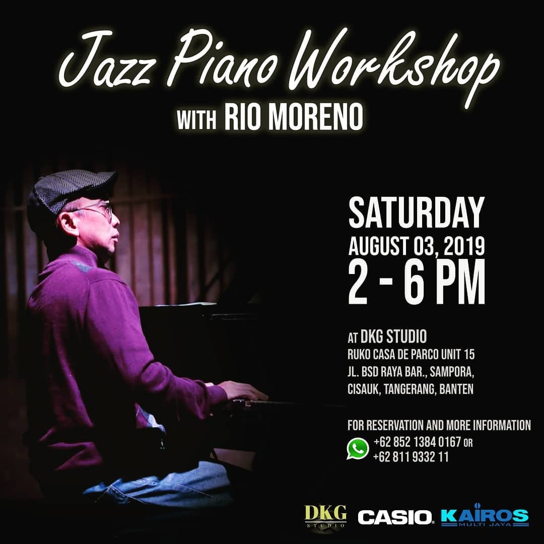 Jazz Piano Workshop with Rio Moreno, 3 August 2019